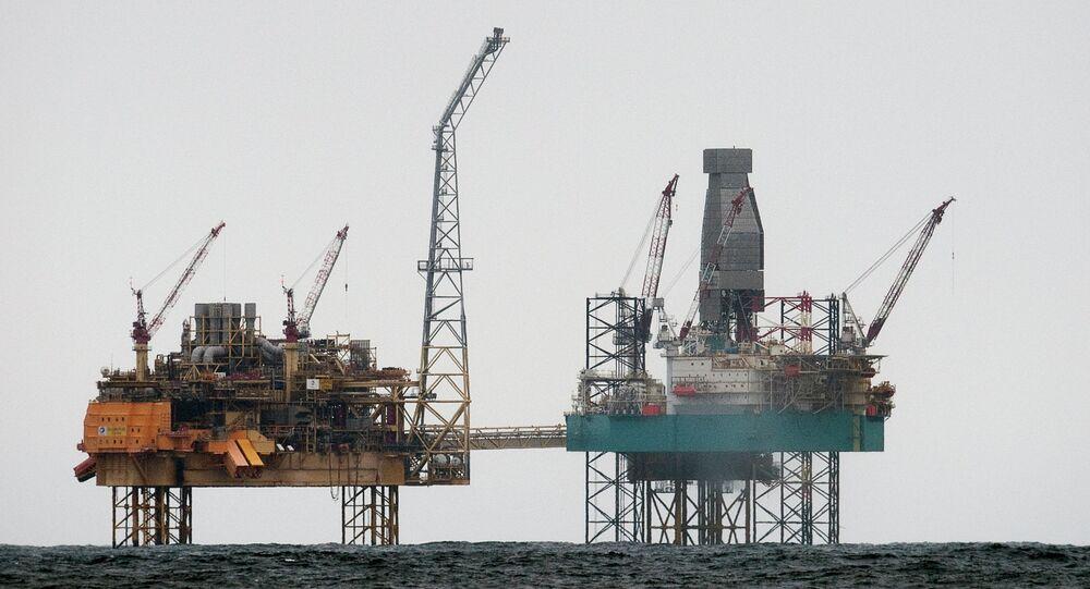 Piattaforme petrolifere nel Mare del Nord