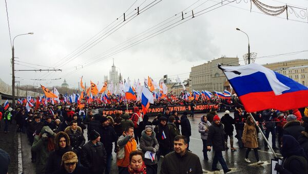 Manifestazione in memoria di Boris Nemtsov - Sputnik Italia