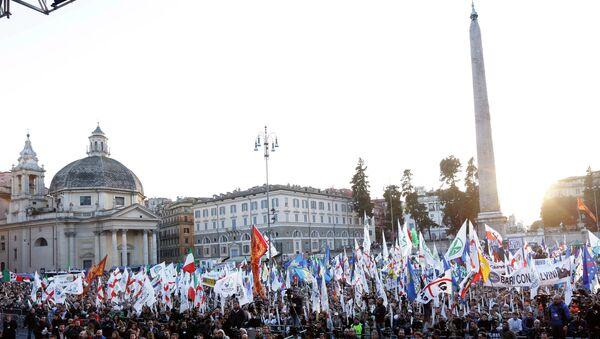 Italian Lega Nord (Northern League) protesters - Sputnik Italia