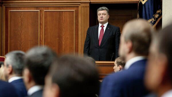 Petr Poroshenko, Verchovna Rada - Sputnik Italia
