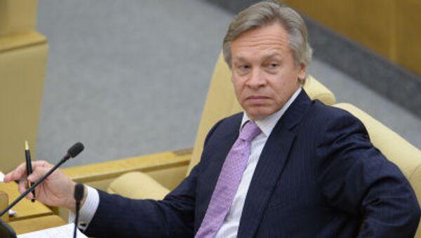 Presidente della Comissione Esteri della Duma Alexey Pushkov - Sputnik Italia
