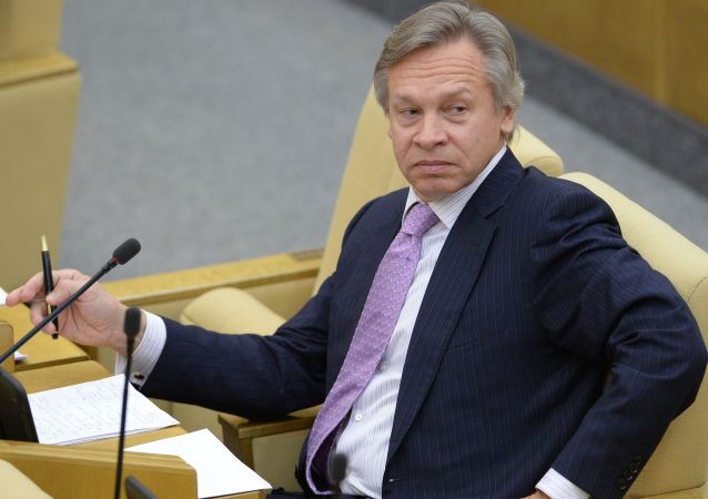 Presidente della Comissione Esteri della Duma Alexey Pushkov