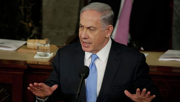 Israeli Prime Minister Benjamin Netanyahu addresses a joint meeting of Congress in the House Chamber on Capitol Hill in Washington, March 3, 2015. - Sputnik Italia