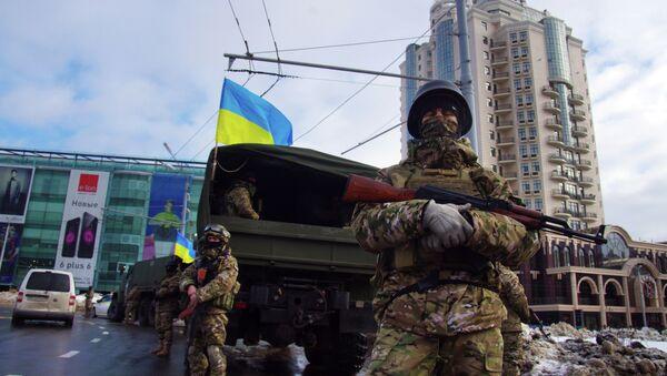 Le forze speciali ucraine a Odessa dopo l`esplosione - Sputnik Italia
