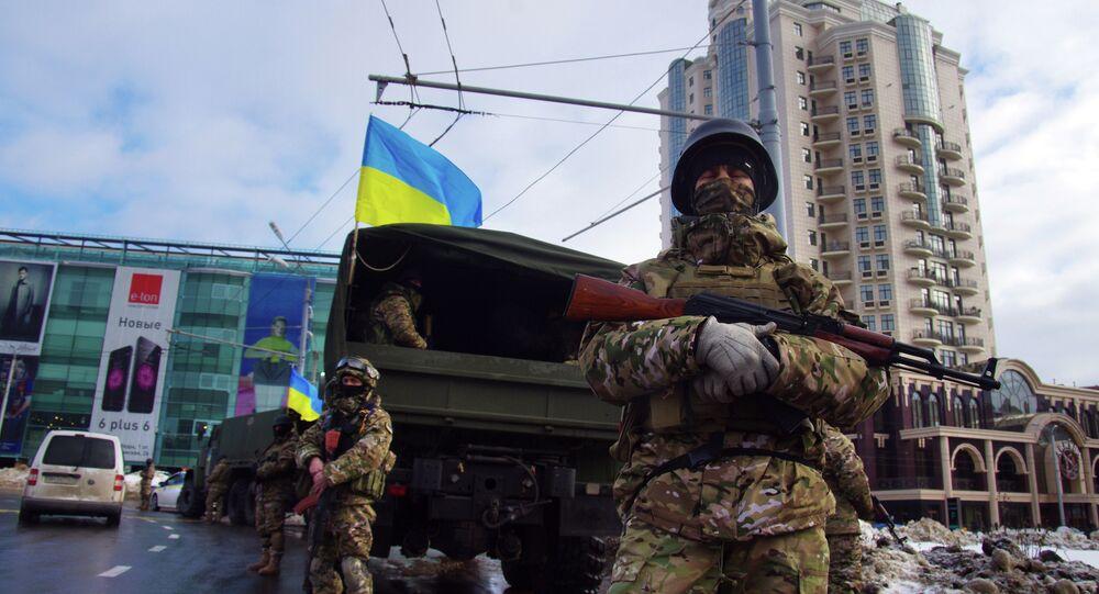 Le forze speciali ucraine a Odessa dopo l`esplosione