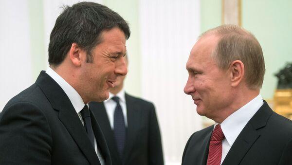 Renzi e Putin - Sputnik Italia