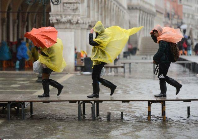 Maltempo a Venezia