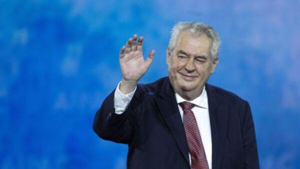 Il presidente di Repubblica Ceca Milos Zeman - Sputnik Italia