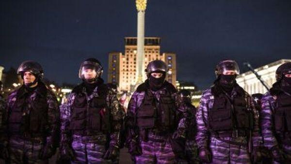 Спецподразделение Беркут на площади Независимости в Киеве - Sputnik Italia