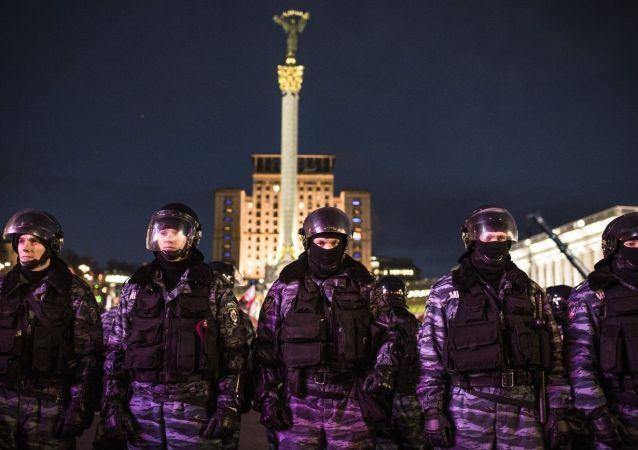 Le forze speciali ucraine Berkut a Kiev