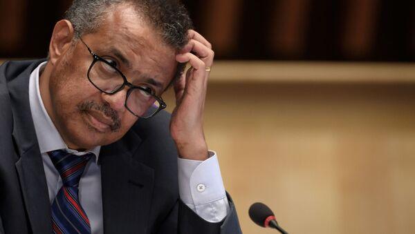 Il direttore generale dell'Organizzazione Mondiale della Sanità (OMS) Tedros Adhanom Ghebreyesus  - Sputnik Italia