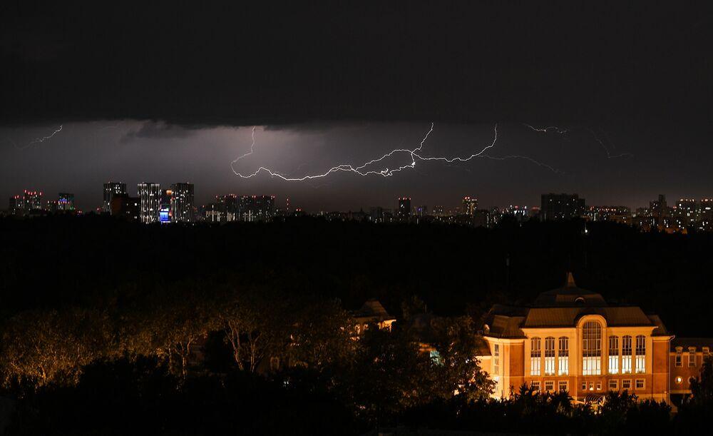 Un temporale a Mosca.