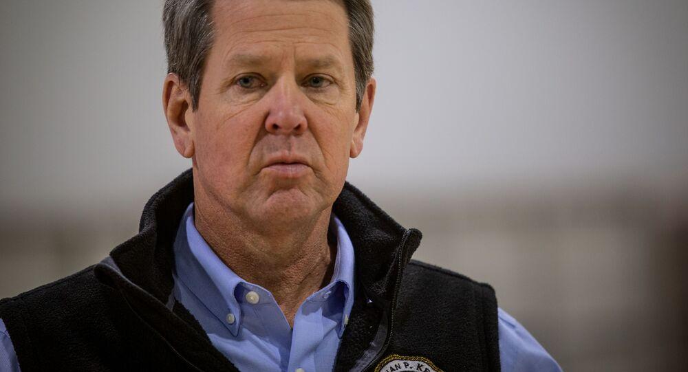 Il Governatore della Georgia Brian Kemp