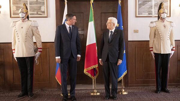 Incontro tra il presidente della Slovenia Borut Pahor e il suo omologo italiano Sergio Mattarella a Trieste - Sputnik Italia