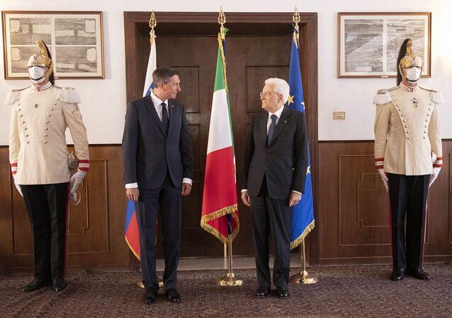 Incontro tra il presidente della Slovenia Borut Pahor e il suo omologo italiano Sergio Mattarella a Trieste
