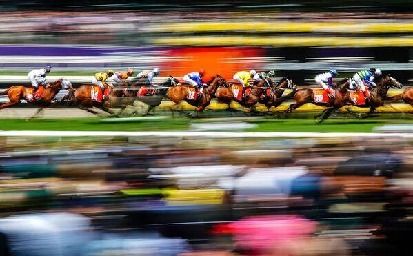 La fotografia Corsa di cavalli di Scott Barbour, vincitrice nella categoria Sport dei Sony Alpha Awards 2020 - Sputnik Italia