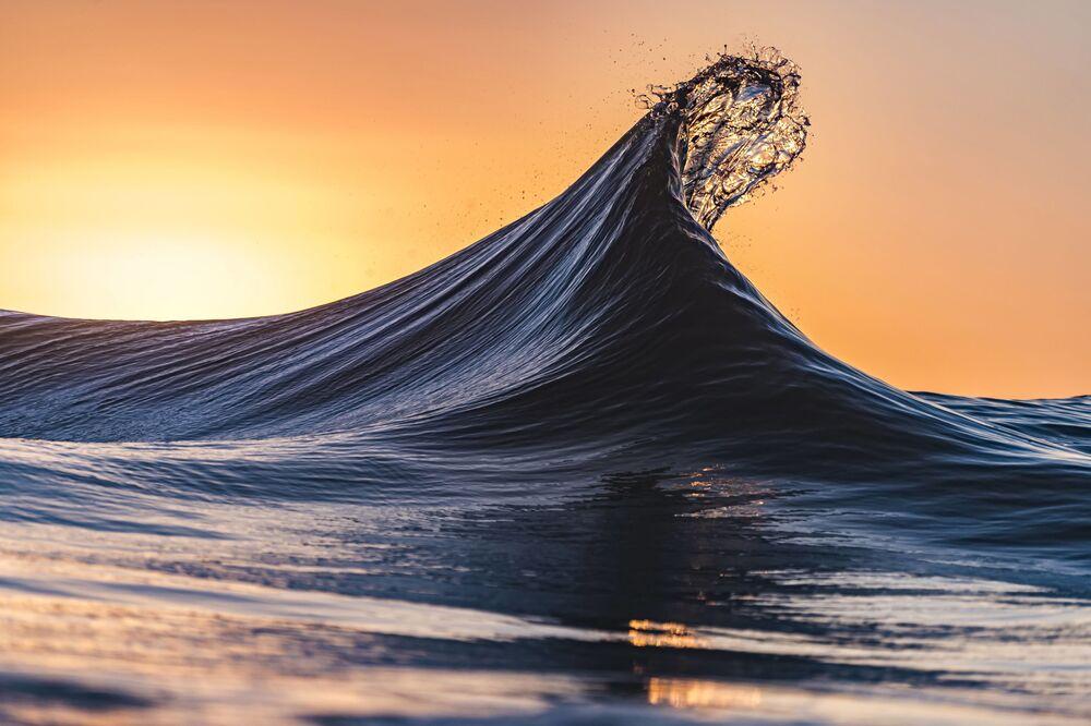 La foto Torsione d'oro di Karl Dalyell, vincitrice nella categoria Paesaggio marino dei Sony Alpha Awards 2020