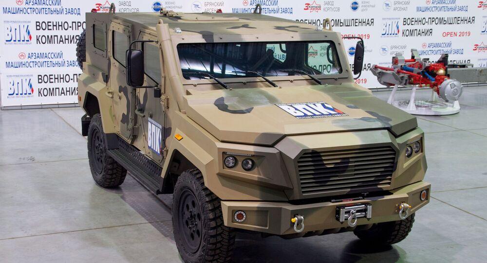 Light armored car Strela