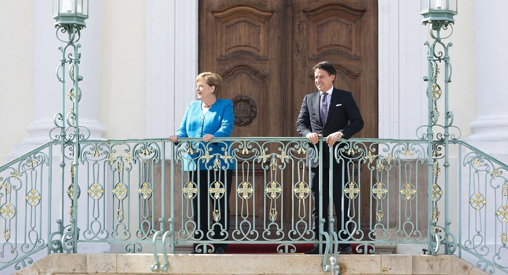 Il Presidente del Consiglio, Giuseppe Conte, incontra la Cancelliera federale della Germania, Angela Merkel