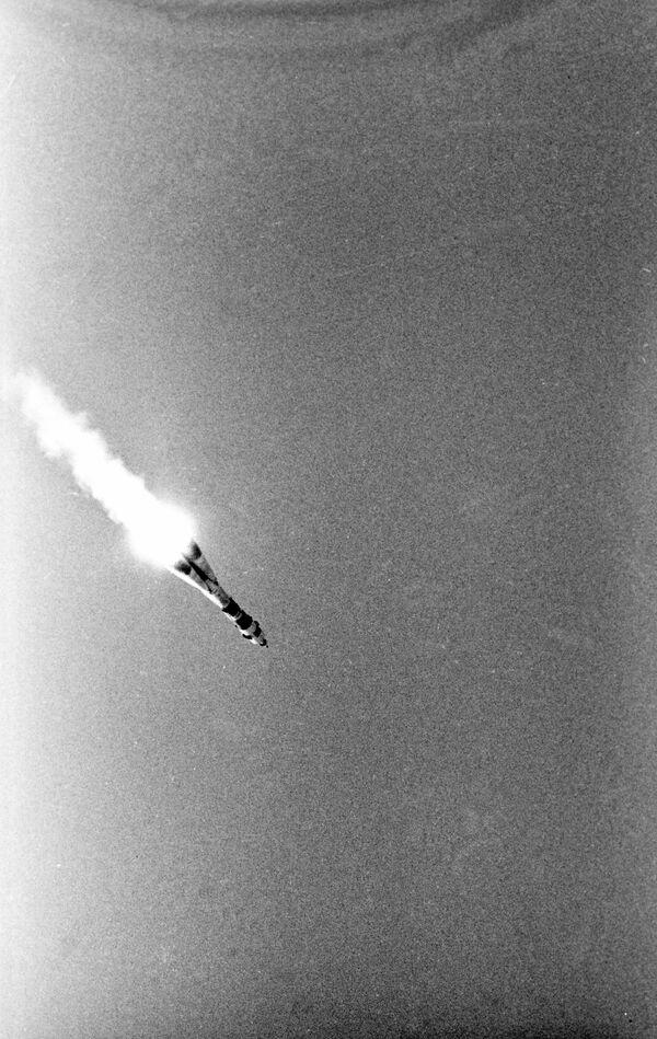 Il lancio del veicolo spaziale sovietico Soyuz-19 con i cosmonauti sovietici Alexey Leonov e Valery Kubasov a bordo - Sputnik Italia