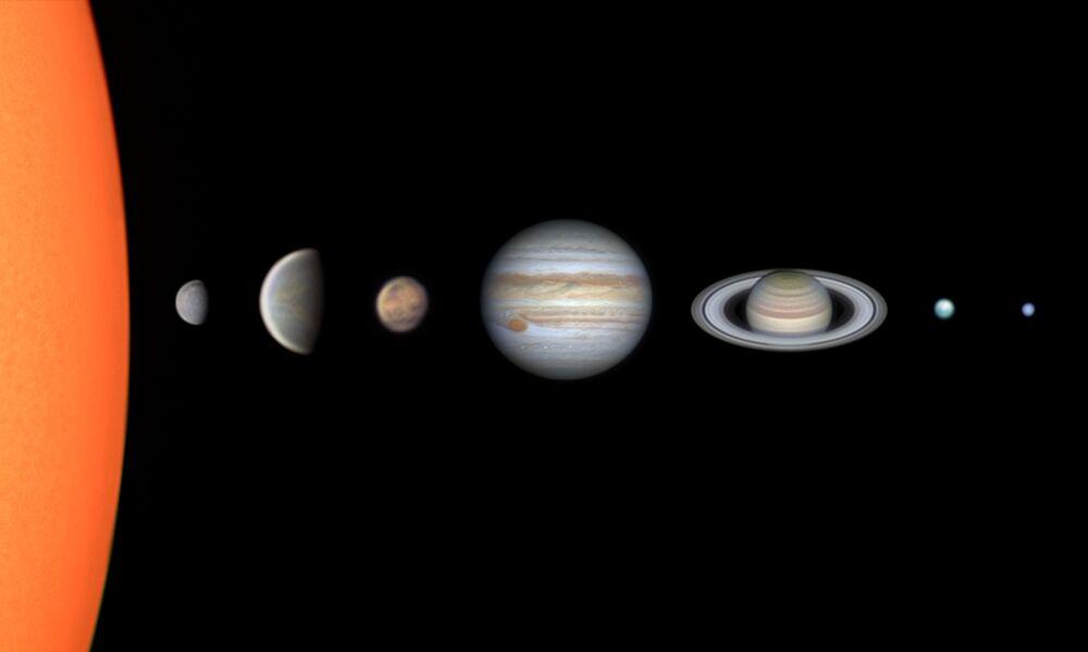 Lo scatto Sistema solare attraverso il mio telescopio del fotografo brasiliano Vinicius Martins del Premio Sir Patrick Moore,'Insight Investment Astronomy Photographer 2020