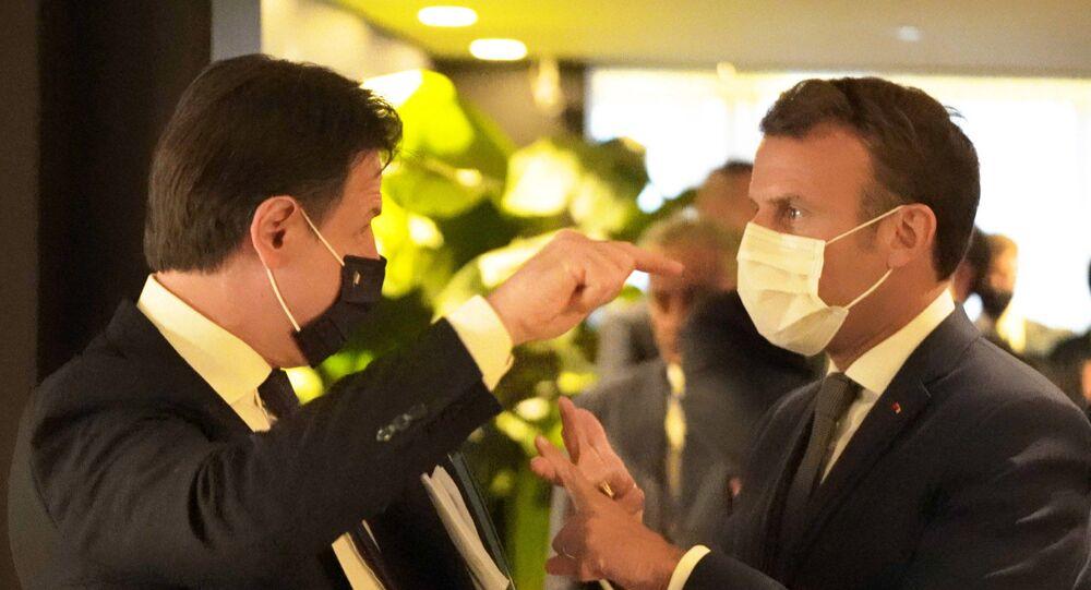 Il Presidente Conte ha incontrato a Bruxelles il Presidente della Repubblica francese, Emmanuel Macron