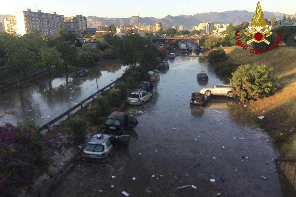 Le conseguenze del nubifragio a Palermo