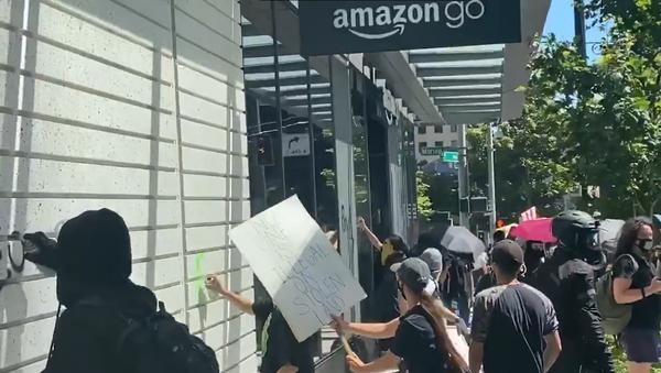 Proteste Usa a Seattle - Sputnik Italia