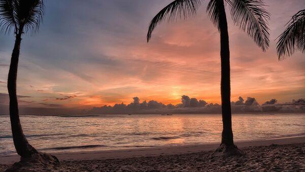 Spiaggia ai Caraibi al tramonto - Sputnik Italia