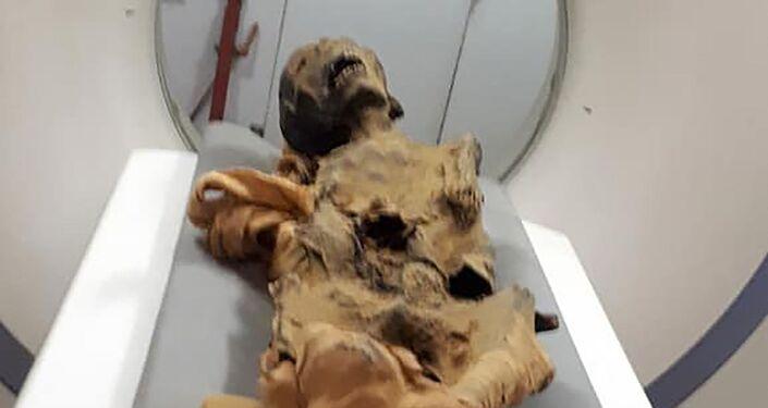 La mummia urlante egiziana