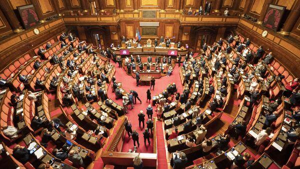 Il Presidente Conte in Senato per l'informativa sugli esiti del Consiglio europeo - Sputnik Italia