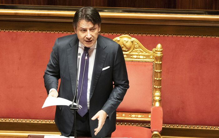 Il Presidente del Consiglio, Giuseppe Conte, in Senato per l'informativa sugli esiti del Consiglio europeo.