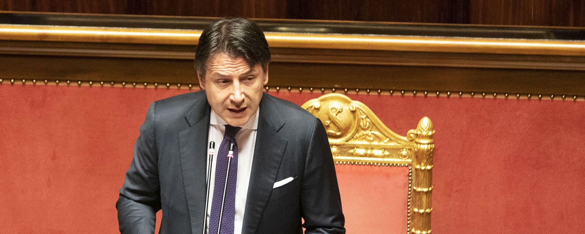 Il Presidente del Consiglio, Giuseppe Conte, in Senato per l'informativa sugli esiti del Consiglio europeo - Sputnik Italia, 1920, 19.08.2021