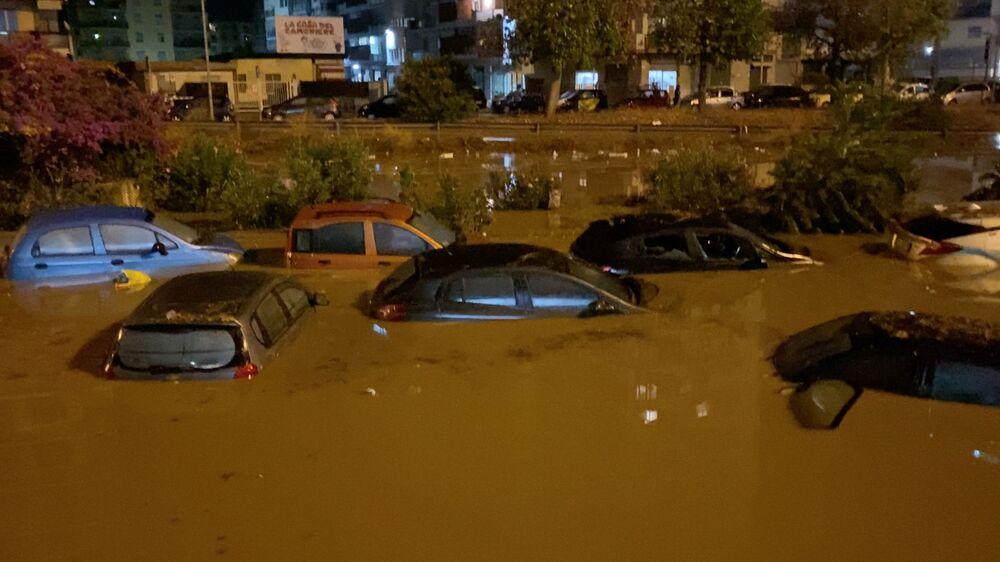 L'alluvione a Milano, Italia