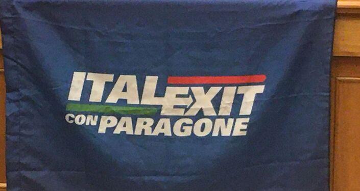"""L'ex grillino, senatore Gianluigi Paragone lancia e presenta a Roma il suo partito apertamente contrario all'Unione Europea - """"No Europa per l'Italia – Italexit con Paragone"""""""