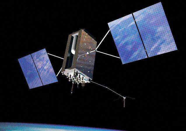 Visione dell'artista di un satellite in orbita
