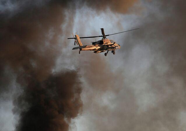 Elicottero Apache delle forze israeliane