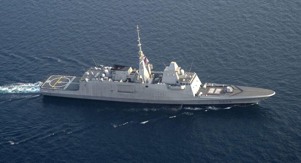 Una fregata francese (foto d'archivio)