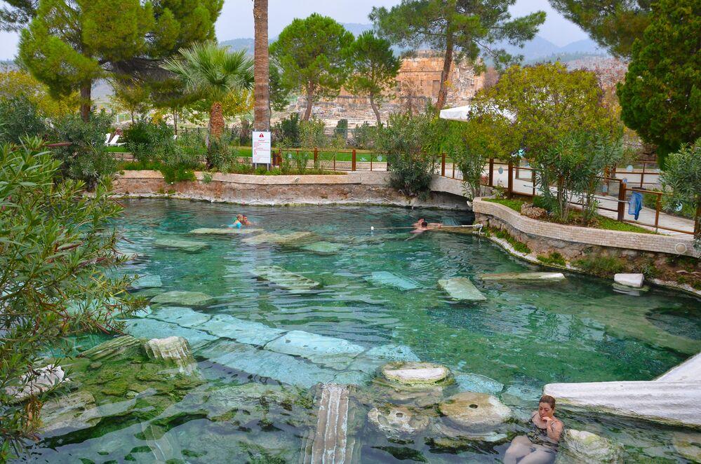 La piscina di Cleopatra  in Turchia