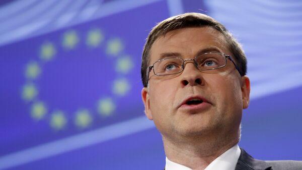 Il vice presidente della Commissione Europea Valdis Dombrovskis - Sputnik Italia