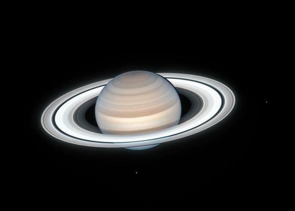 Il telescopio spaziale Hubble della NASA ha catturato questa immagine di Saturno il 4 luglio 2020 - Sputnik Italia