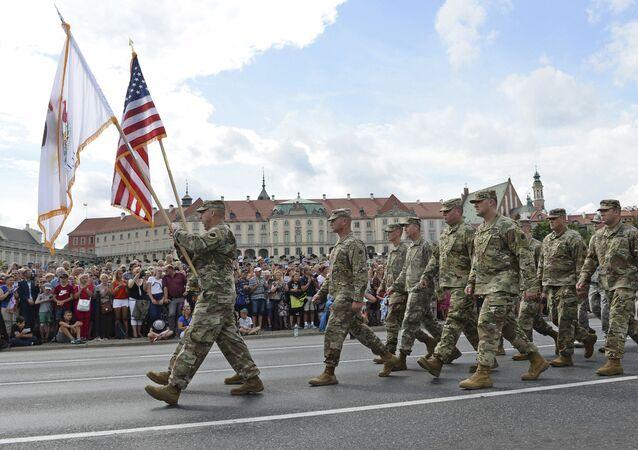 Soldati Usa in Polonia (foto d'archivio)