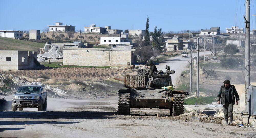 Des militaires syriens dans le sud du gouvernorat d'Idlib, archives