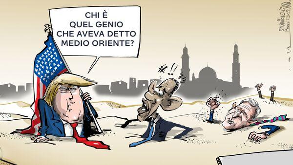 Trump: L'intervento in Medio Oriente è il più grande errore nella storia degli USA - Sputnik Italia