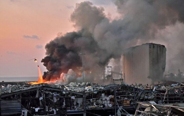 La città di Beirut dopo l'esplosione