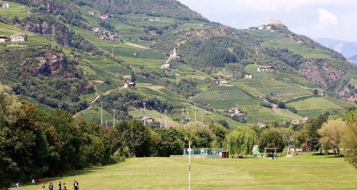 Un panorama di Bolzano