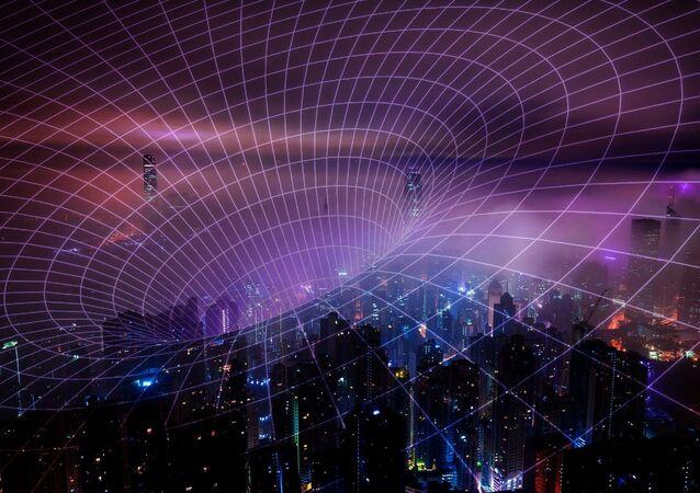 Una rappresentazione artistica delle radiazioni della rete 5G