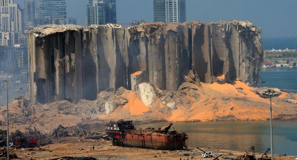 Le conseguenze della devastante esplosione presso il porto di Beirut, Libano