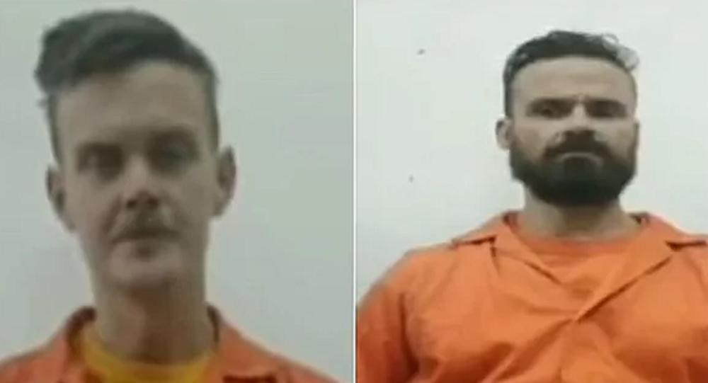 I mercenari statunitensi Luke Denman e Airan Berry. Screenshot dalla televisione venezuelana.