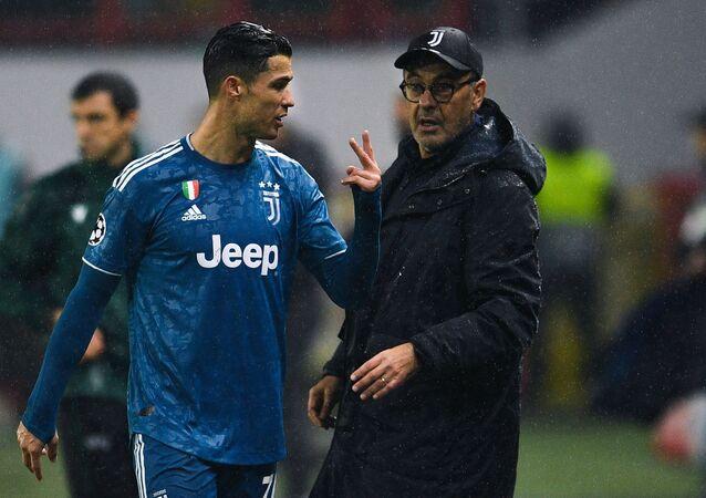 Cristiano Ronaldo e Maurizio Sarri